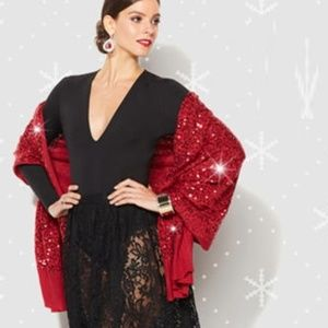 IMAN - Luxury Chick Sequin Wrap - Red or Black